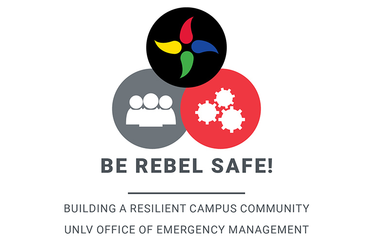 A logo of three circles for Be Rebel Safe.