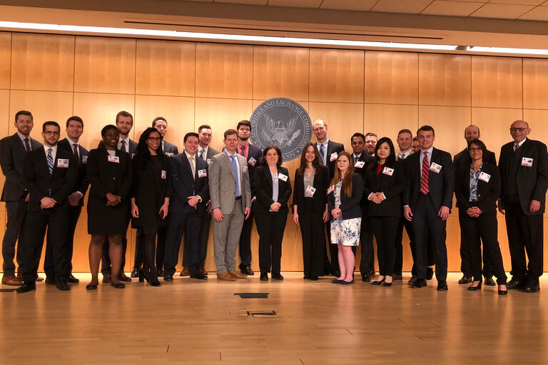 Members of Boyd Law School visit the Securities and Exchange Commission.