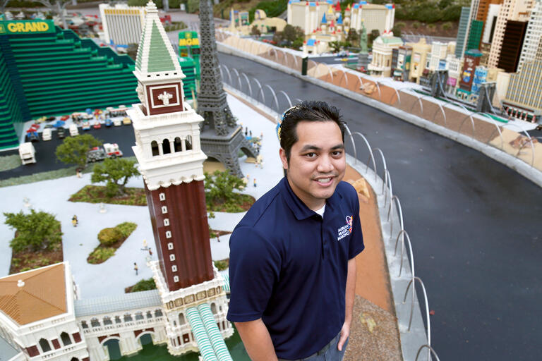 Alex Andres at Lego Land