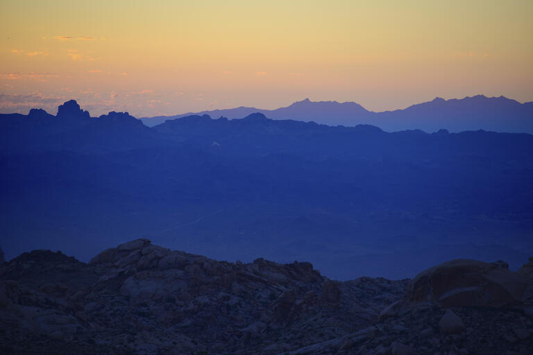 image of desert mountains