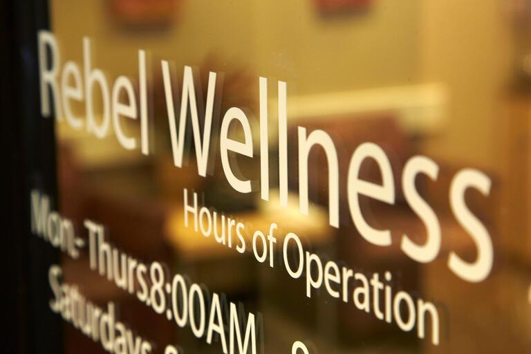 Rebel Wellness office door