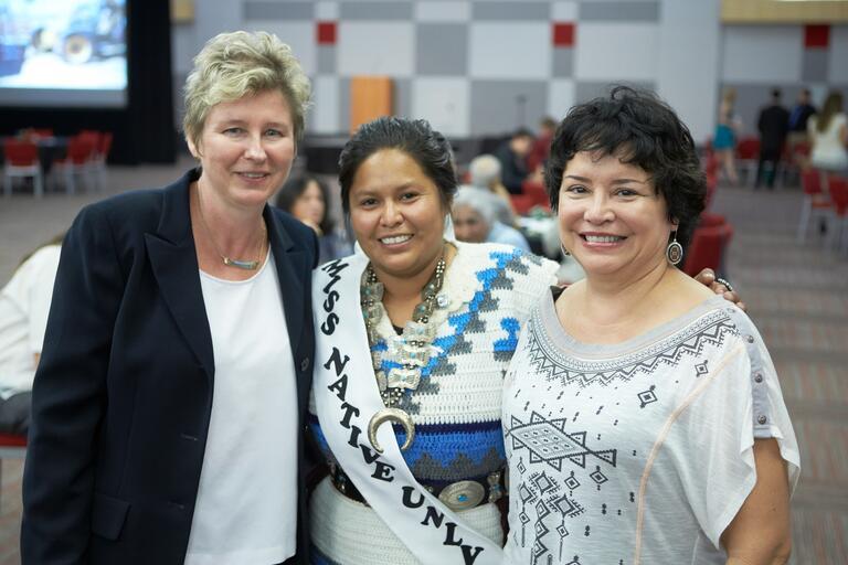 Attenddees pose at the UNLV STEM Multicultural program ceremony.